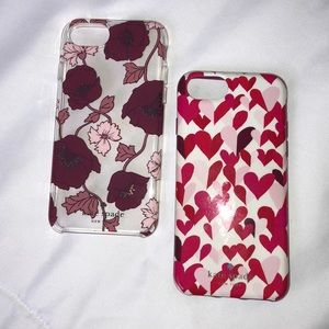 Two Kate spade iPhone 8 case